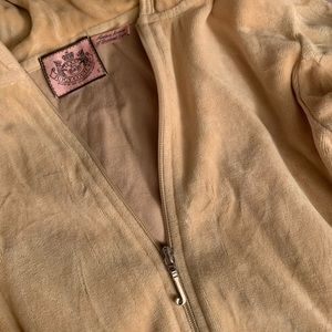 Juicy Couture Tan Zip Up Hoodie